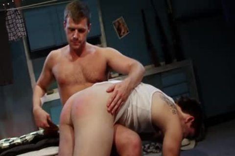 Spanked And pounded For sucking Himself